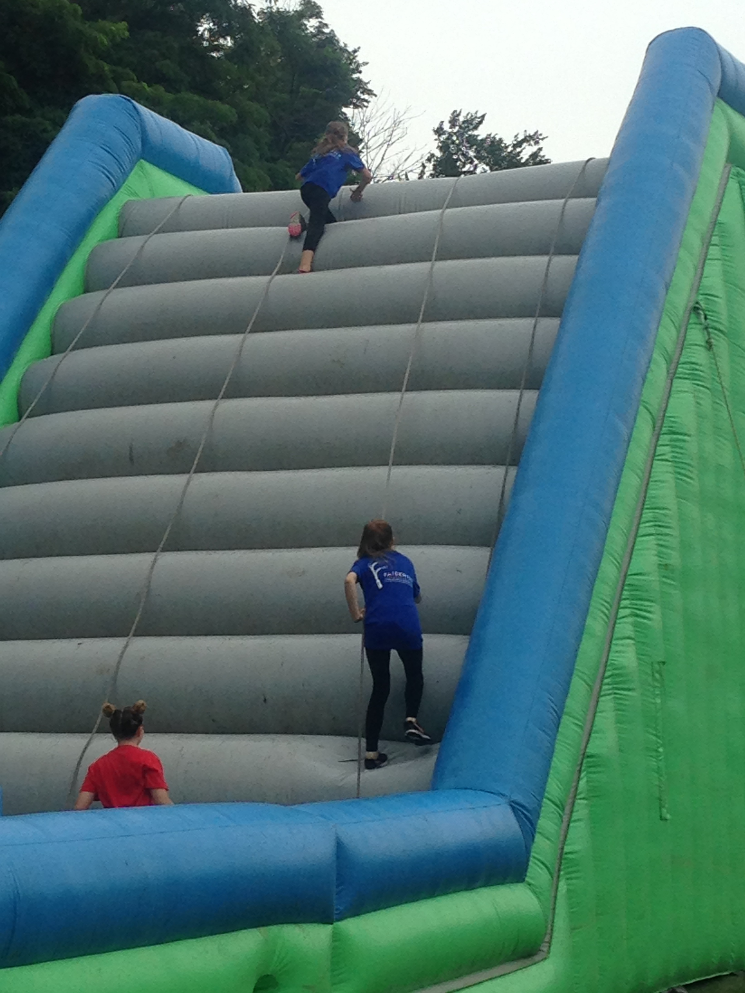Fort Wayne team participating at Insane Inflatable 5k